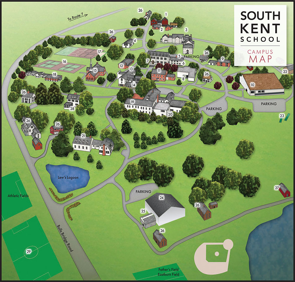 South Mountain Community College Campus Map.Campus Map Facilities South Kent School